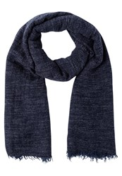 Replay Scarf Mottled Dark Blue
