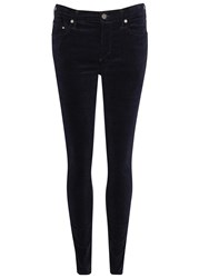 Citizens Of Humanity Rocket Midnight Blue Velvet Skinny Jeans Dark Navy