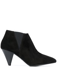 Closed Structured Ankle Boots Black