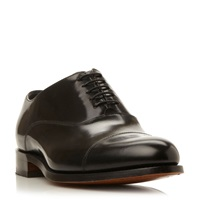 Barker Winsford High Shine Leather Toe Cap Shoes Black