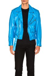 Enfants Riches Deprimes Leather Jacket In Blue