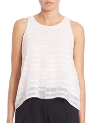 Jonathan Simkhai Lace Up Texture Tank Top Ivory