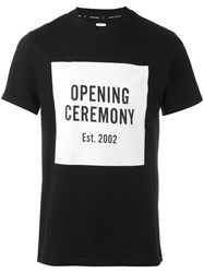 Opening Ceremony Logo Print T Shirt Black