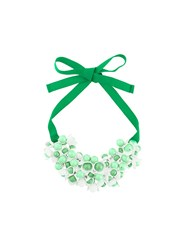 P.A.R.O.S.H. Floral Motif Short Necklace Green