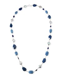 Margo Morrison Blue Stone And Pearl Necklace