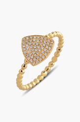 Women's Bony Levy 'Aurora' Diamond Pave Triangle Ring Yellow Gold Limited Edition Nordstrom Exclusive
