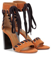 Chloe Suede Sandals Brown