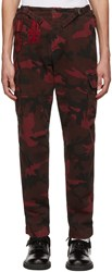Valentino Red Camouflage Cargo Pants
