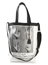 Golden Goose Deluxe Brand Hand Signal Print Tote