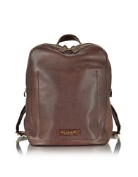 The Bridge Plume Dark Brown Leather Men's Backpack