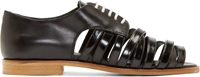 Band Of Outsiders Black Strappy Derby Flats