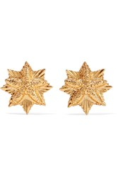 Oscar De La Renta Gold Plated Earrings One Size Gbp