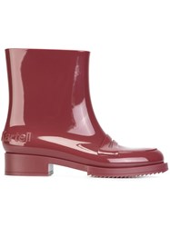 N 21 No21 Ankle Rain Boots Red