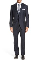 Peter Millar Men's Big And Tall 'Flynn' Classic Fit Solid Wool Suit Navy