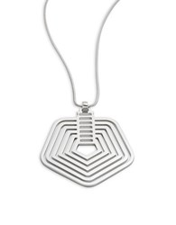 Trina Turk Stack Pendant Necklace Silver
