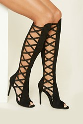 Forever 21 Faux Suede Knee High Stilettos