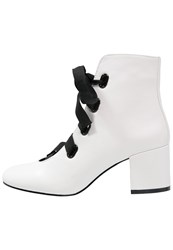 Miss Selfridge Ascot Laceup Boots White