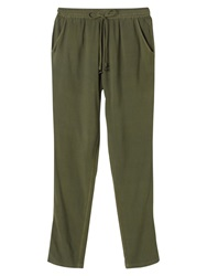 East Tassel Detail Harem Trousers Khaki
