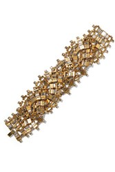 Erickson Beamon River Song Gold Plated Crystal Bracelet One Size