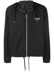 Ami Alexandre Mattiussi Hooded Zipped Jacket Paris Patch Black