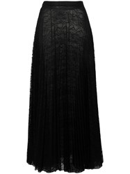 Dondup Pleated Lace Maxi Skirt Black