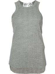 Sacai Ribbed Tank Top Grey