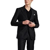 Cifonelli Montecarlo Wool Mohair Two Button Sportcoat Black