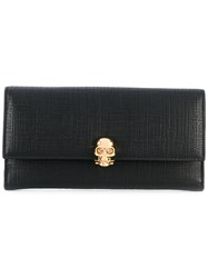 Alexander Mcqueen Skull Charm Wallet Women Calf Leather One Size Black