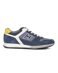 Hogan 198 Navy Blue Suede Trainers