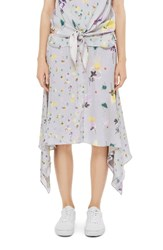 Topshop Women's Boutique Mix Floral Skirt Grey