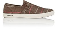 Seavees Men's Baja Poplin Slip On Sneakers Brown