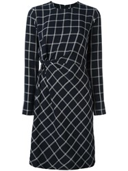 Elizabeth And James Geometric Print Fitted Dress Blue