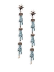 Gucci Hands Crystal And Faux Pearl Clip On Drop Earrings