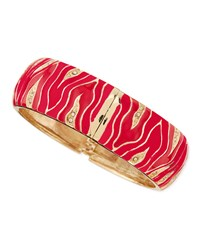 Wide Zebra Bangle Red Sequin