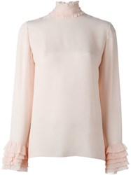 Emilio Pucci Frill Detail Blouse Pink And Purple