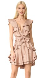 Zimmermann Winsome Flounce Dress Amber Nude