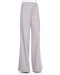 Jason Wu Wool Crepe Wide Leg Trousers Lilac