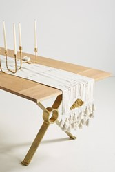 Anthropologie Gold Inflection Table Runner Neutral