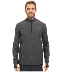 New Balance Transit Quarter Zip Top Heather Charcoal Men's Long Sleeve Pullover Gray