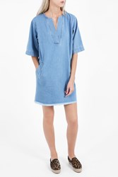 Paul Joe Sister Women S Cleante Denim Oversized Dress Boutique1 Blue