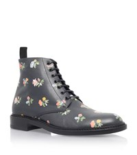 Saint Laurent Lolita Prairie Flower Ankle Boot Female Black
