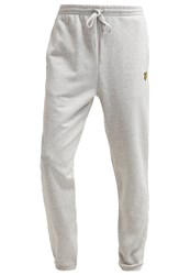 Lyle And Scott Tracksuit Bottoms Light Grey Marl
