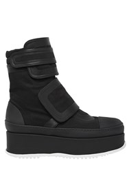 Marni 50Mm Canvas And Rubber Platform Boots