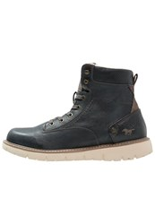 Mustang Laceup Boots Navy Blue