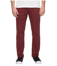 Huf Fulton Chino Pants Burgundy Men's Casual Pants