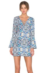 Eight Sixty Broken Bloom Dress Blue