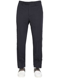 Valentino 20.5Cm Wrinkled Effect Wool Toile Pants