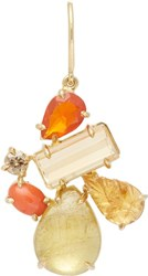 Sharon Khazzam Multi Gemstone Norma Earring Colorless