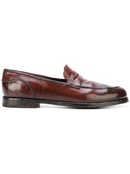Alberto Fasciani Ulisse Penny Loafers Leather Rubber Brown