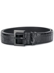 Saint Laurent Monogram Detail Belt Black